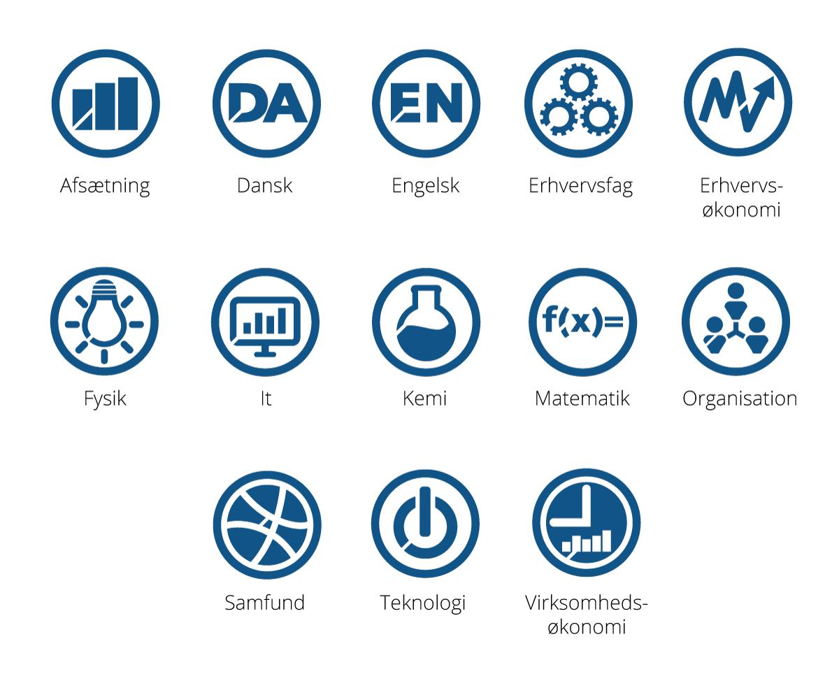 Praxis-fag-ikoner