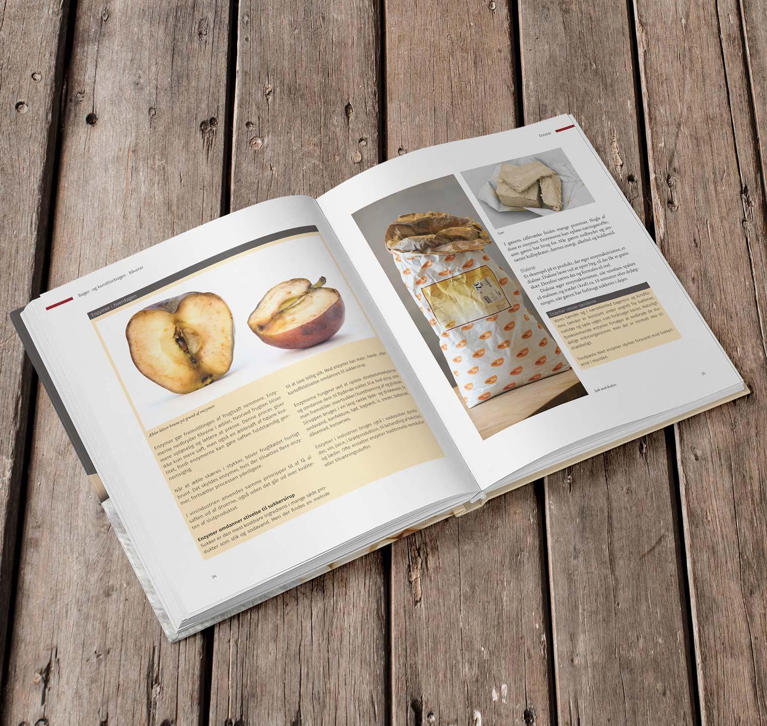 Bager- og konditorbogen - Design og sats: Omslag og indhold, 5 fotooptagelser.