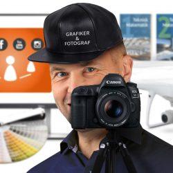 Grafiker & fotograf | Een kasket, men flere kasketter på = flere fordele for dig.