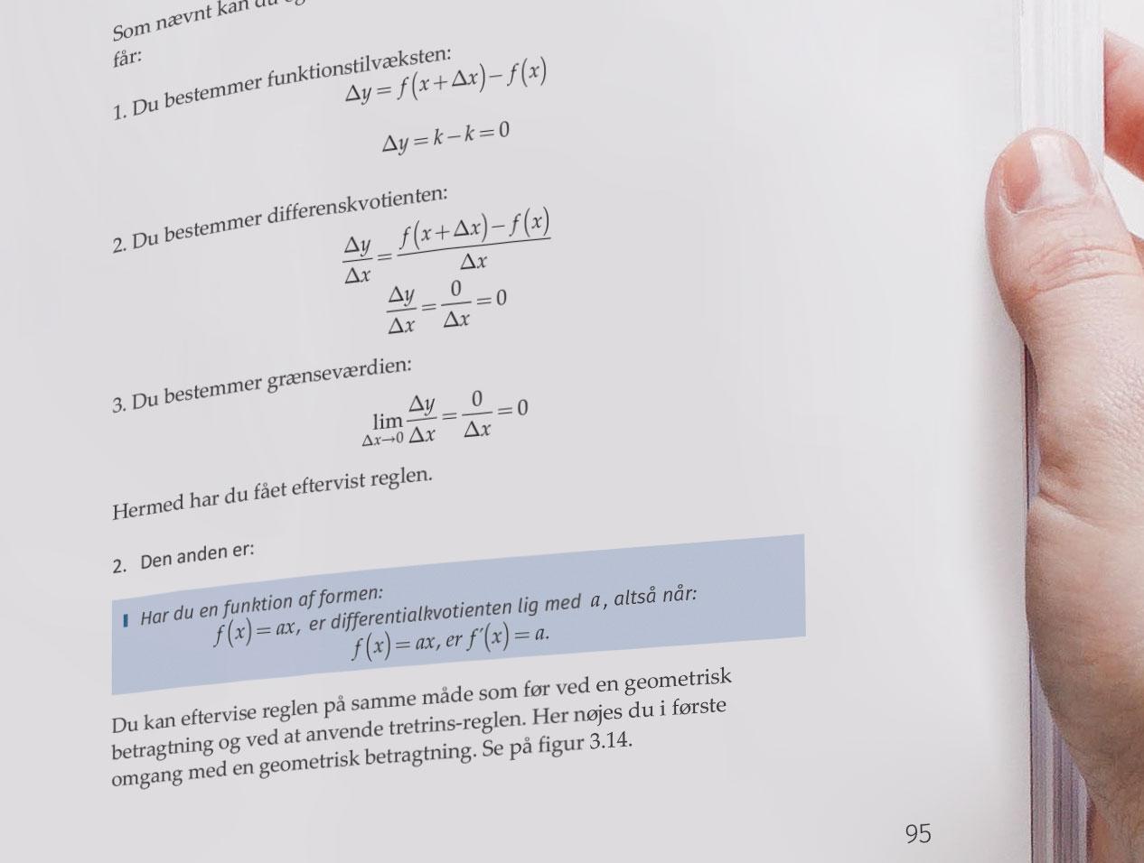 Word formler i en bog: Teknisk Matematik 2.