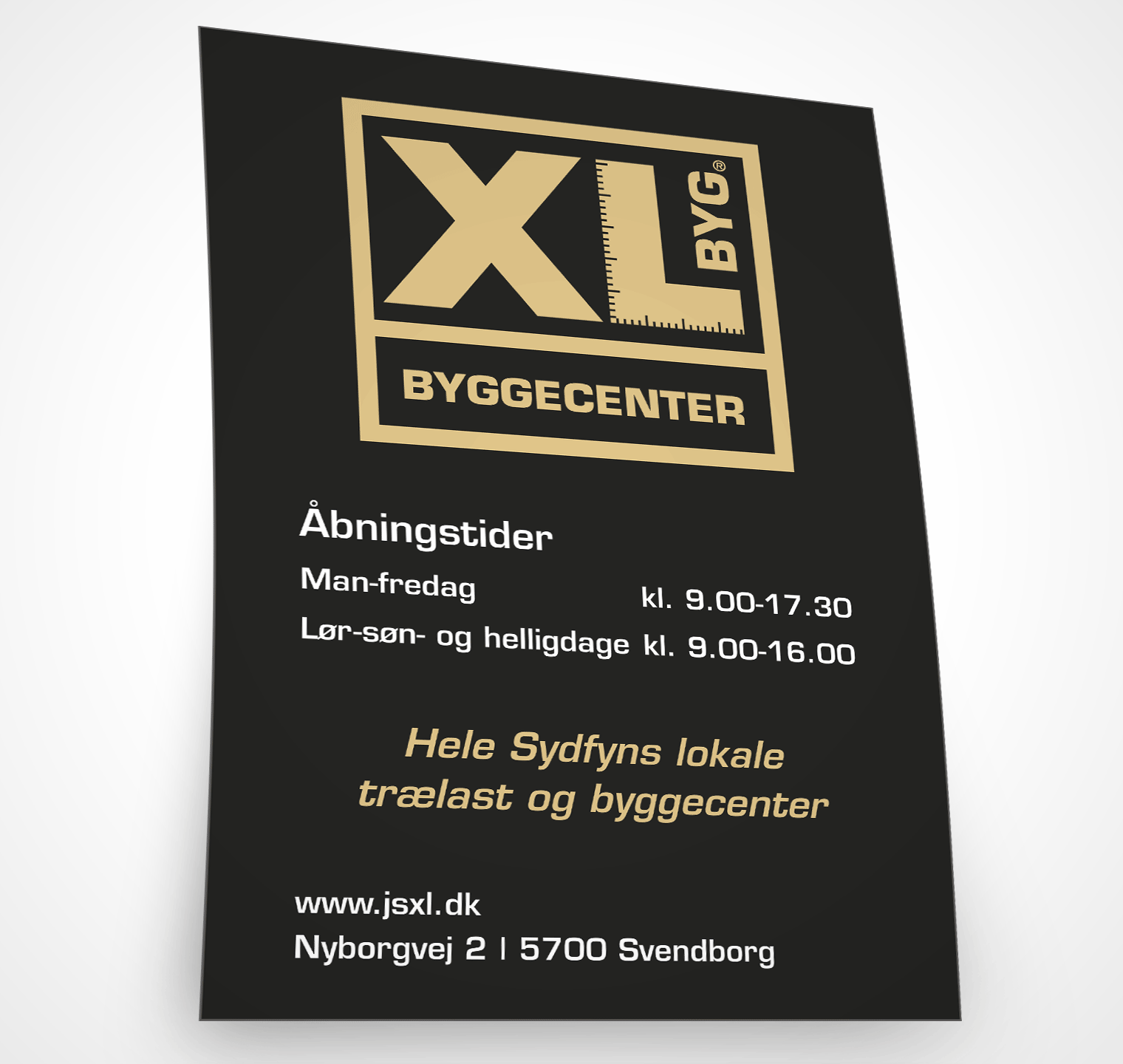 Xl-byg annonce – Design og sats: Grapida